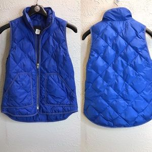 J. Crew down filled vest quilted blue Sz XS